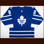 2006-07 Jeff O'Neill Toronto Maple Leafs Game Worn Jersey - Final Career Home Game - Photo Match – Team Letter