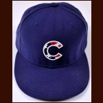 Geovany Soto Chicago Cubs Game Worn New Era Flag Cap – 2008 Rookie season – Rookie of the Year – Team Letter