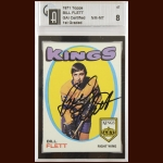1971-72 Bill Flett Los Angeles Kings Autographed Card – Deceased – GAI Certified