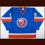 1981-82 & 1982-83 Bryan Trottier New York Islanders Stanley Cup Finals Game Worn Jersey – Worn in 2 Stanley Cup Winning Seasons - 2nd Team NHL All Star - All Star Season - 50-Goal Season - Photo Match