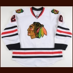 2013-14 Brandon Saad Chicago Blackhawks Game Worn Jersey - Photo Match – Team Letter