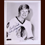 Keith Magnuson Chicago Black Hawks Autographed 8x10 B&W Photo - Deceased