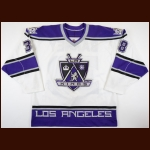 1998-99 Scott Barney Los Angeles Kings Game Issued/Training Camp Jersey – Team Letter