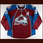2013-14 Paul Stastny Colorado Avalanche Game Worn Jersey - Photo Match – Team Letter