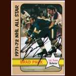 1972-73 Topps  #123 Brad Park Rangers AS - Autographed