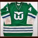 1980-81 Dave Keon Whalers Game Worn Jersey