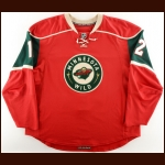 2008-09 Craig Weller Minnesota Wild Game Worn Jersey - Last NHL Home Game - Photo Match – Team Letter