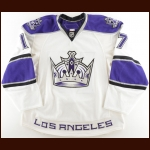 2010-11 Wayne Simmonds Los Angeles Kings Pre-Season Game Worn Jersey – Photo Match – Team Letter