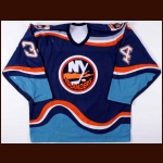 1996-98 Bryan Berard New York Islanders Game Worn Jersey – Rookie - Calder Trophy - Photo Match