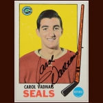 1969-70 Topps Carol Vadnais Oakland Seals Autographed Card – Deceased