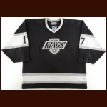 1997-98 Matt Johnson Los Angeles Kings Game Worn Jersey – Career Best 249 PIMS Season – Team Letter