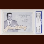 Jim Hendy Autographed Card - The Broderick Collection - Deceased