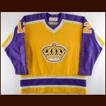 1980-81 Dean Hopkins Los Angeles Kings Game Worn Jersey - Career Best 118 PIMS