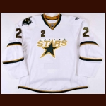 2010-11 Nicklas Grossman Dallas Stars Game Worn Jersey – Alternate - Team Letter