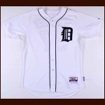 2014 Max Scherzer Detroit Tigers Game Worn Jersey – 3rd Party Authentication Letter