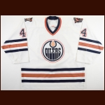 2005-06 Chris Pronger Edmonton Oilers Game Worn Jersey - Photo Match – Team Letter