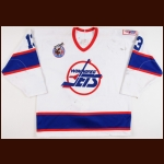1992-93 Teemu Selanne Winnipeg Jets Game Worn Jersey – Rookie - Calder Trophy – 1st Team NHL All Star - NHL Rookie Record 76-Goal & 132-Point Season - Photo Match