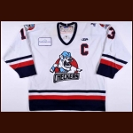2007-08 Blake Bellefeuille Charlotte Checkers Game Worn Jersey – ECHL Letter