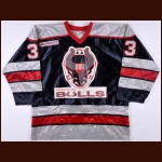 Early 1990's Birmingham Bulls Game Worn Jersey – Player #33