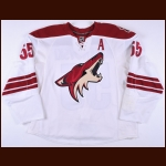 2009-10 Ed Jovanovski Phoenix Coyotes Game Worn Jersey - Photo Match - Team Letter