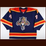 2006-07 Jay Bouwmeester Florida Panthers Game Worn Jersey - Photo Match – Team Letter