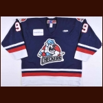 2005-06 Mike Bayrack Charlotte Checkers Game Worn Jersey – ECHL Letter