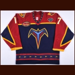 "2003-04 Ilya Kovalchuk Atlanta Thrashers Game Worn Jersey – ""5-year Anniversary – ""37"" - All Star Season - Photo Match - Team Letter"