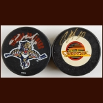 Pavel Bure Autographed Pucks – Vancouver Canucks & Florida Panthers