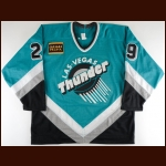 1995-96 Vladimir Tsyplakov Las Vegas Thunder Game Worn Jersey – Alternate