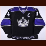 2007-08 Rob Blake Los Angeles Kings Game Worn Jersey – Team Letter