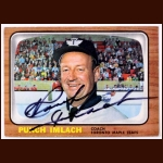 "1966-67 George ""Punch"" Imlach Toronto Maple Leafs Autographed Card - Deceased"