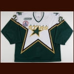 "1999-00 Ed Belfour Dallas Stars Game Worn Jersey – ""2000 Stanley Cup Finals"" – Team Letter"