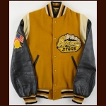 Mid 1960's Syracuse Stars Leather & Fleece Heavy Jacket