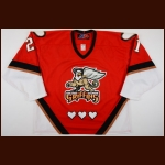 2006-07 Josh Langfeld Grand Rapid Griffins Game Worn Jersey - Valentines Day Alternate