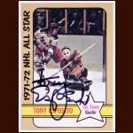 1972-73 OPC #226 Tony Esposito Black Hawks AS - Autographed