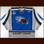 2005-06 Jean-Philippe Cote Saint John Sea Dogs Game Worn Jersey - Inaugural Season
