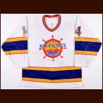 Early 1990's Kevin Miller Peoria Rivermen Game Jersey
