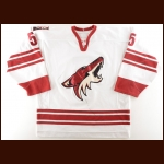 2005-06 Dave Tanabe Phoenix Coyotes Game Worn Jersey – Team Letter