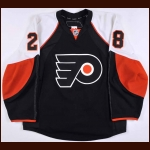 2009-10 Claude Giroux Philadelphia Flyers Game Worn Jersey – Alternate - Team Letter