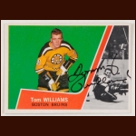 1963-64 Tom Williams Boston Bruins Autographed Card - Rookie - Deceased