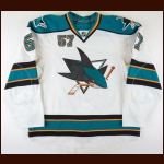 2011-12 Tommy Wingels San Jose Sharks Game Worn Jersey – Rookie - Photo Match