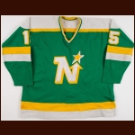 1980-81 Bobby Smith Minnesota North Stars Stanley Cup Finals Game Worn Jersey - Photo Match