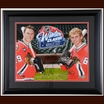 Jonathan Toews & Patrick Kane Chicago Blackhawks 2009 Winter Classic Autographed Display – NHL Authenticated