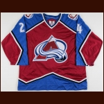 1998 Jon Klemm Colorado Avalanche Game Worn Jersey
