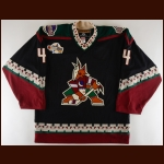 2002-03 Ossi Vaananen Phoenix Coyotes Young Stars Game Worn Jersey - Photo Match