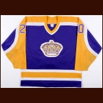 1987-88 Luc Robitaille Los Angeles Kings Game Worn Jersey - 2nd NHL Season - 1st 50-Goal & 100-Point Season - Photo Match