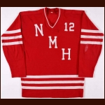 Late 1960's Northfield Mt. Hermon High School Game Worn Jersey – Player #12