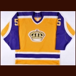 1987-88 Denis Larocque Los Angeles Kings Game Worn Jersey – Rookie