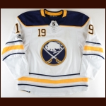 2017-18 Jake McCabe Buffalo Sabres Game Worn Jersey - Photo Match – Team Letter