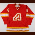 1978-79 Dave Shand Atlanta Flames Game Worn Jersey